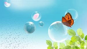 Animated Wallpaper of Butterfly Bubble for Desktop Background in HD