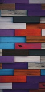 Colorful Wood 3D Pattern Wallpaper for Popular Smartphones Background