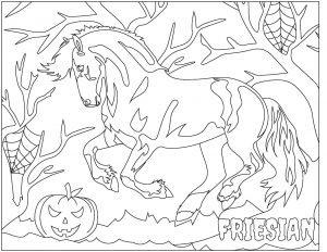 Allpony Friesian Halloween