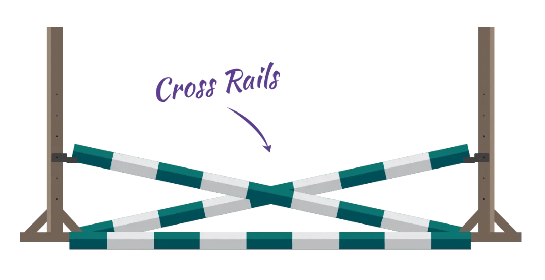 cross rails horse jump