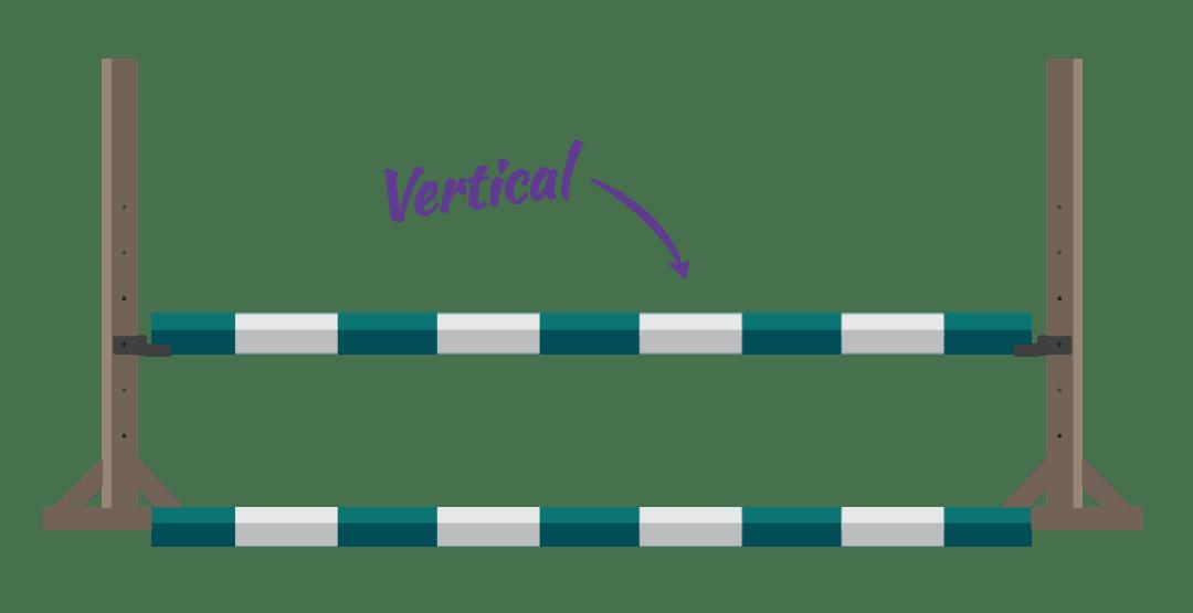 Vertical horse jumps