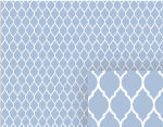 blue garden gate pattern background