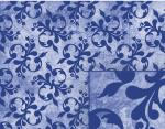 blue victorian background pattern