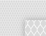 Gray Garden Gate Pattern