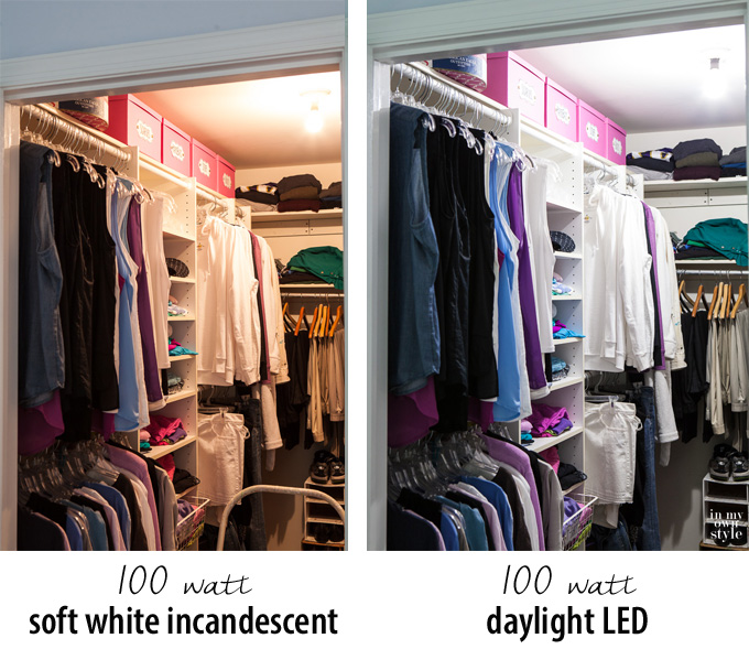 led light installation for closets