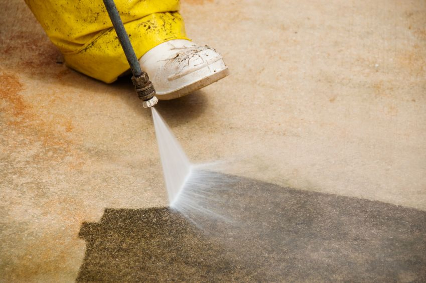 Allpro Painters cleaning concrete