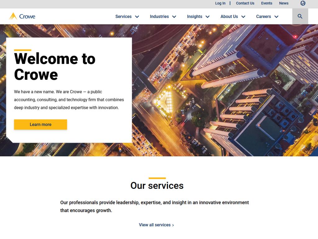 Crowe Horwath LLP website screenshot