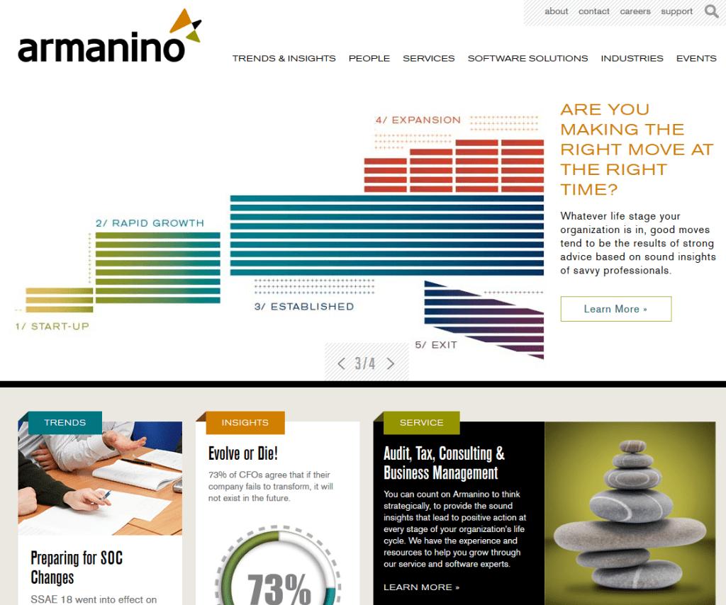Armanino LLP website screenshot