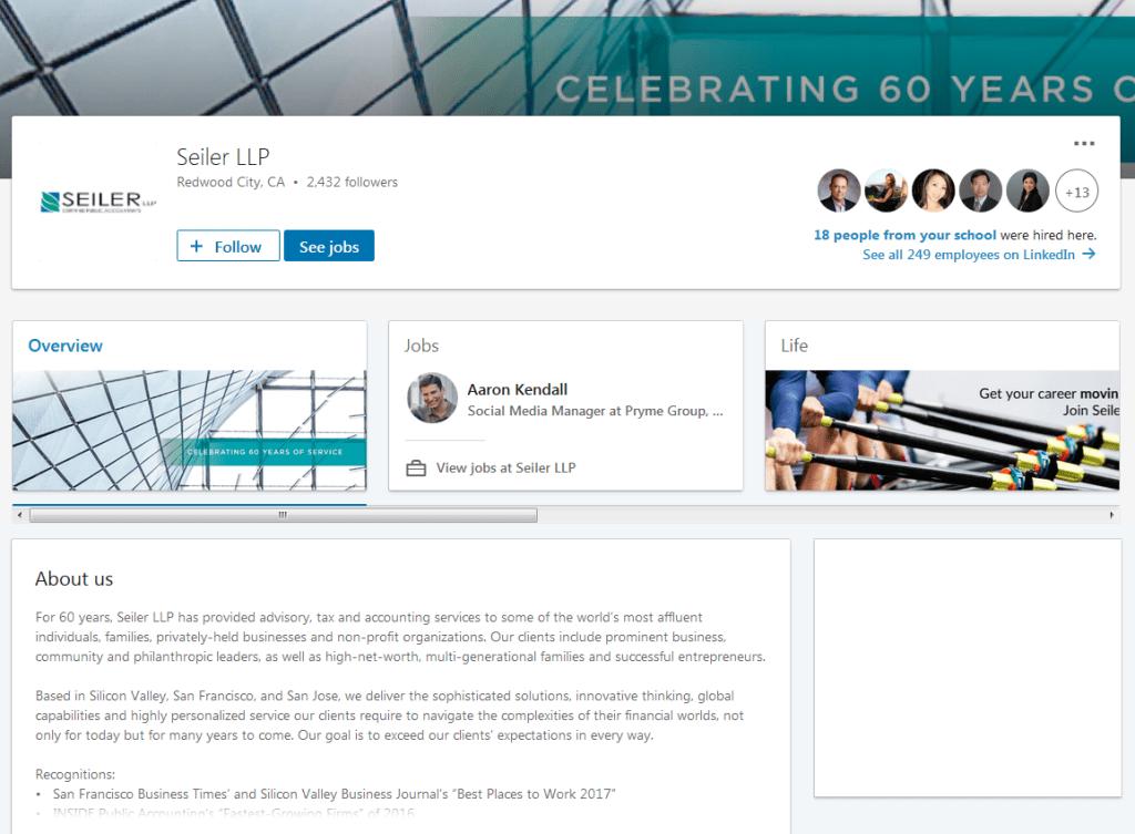 Seiler LLP LinkedIn screenshot