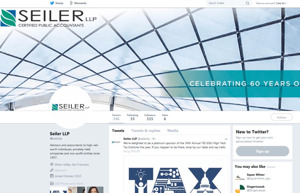 Seiler LLP Twitter account screenshot