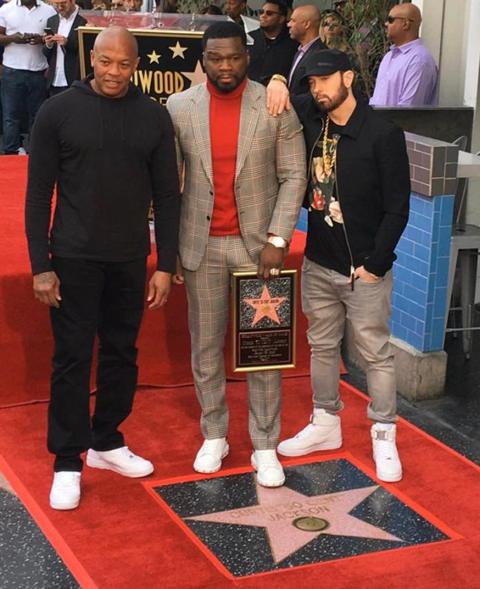 50 Cent Eminem Dr. Dre Hollywood Walk Of Fame