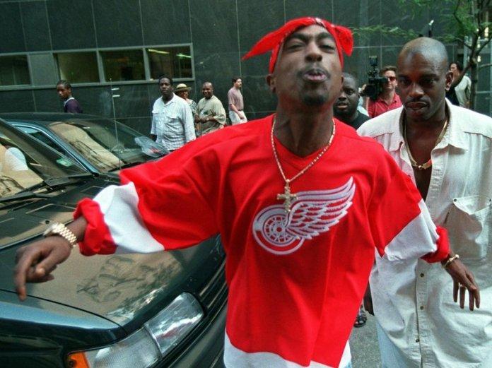 Tupac with red bandana image