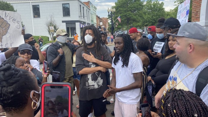J. Cole Supports The George Floyd Protestsors In Fayetteville, NC