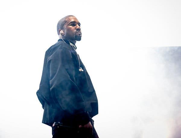 Kanye West image on stage