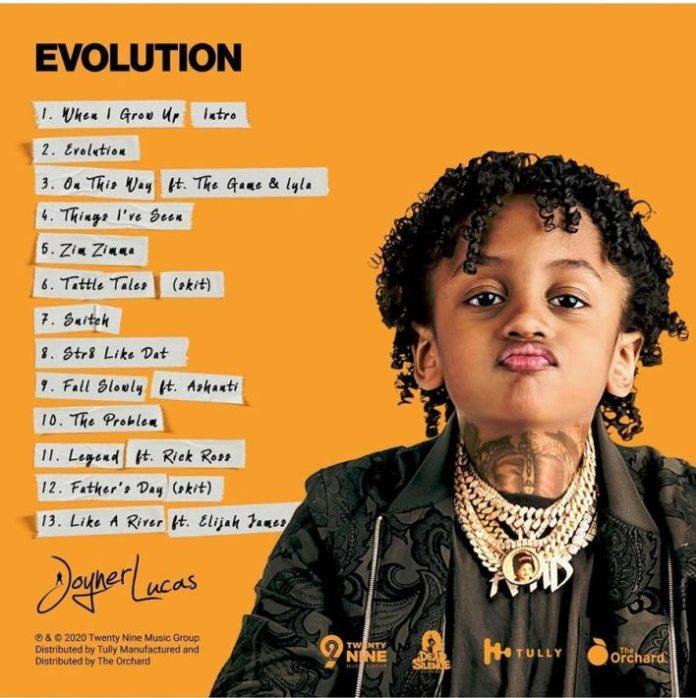 joyner lucas evolution album back cover image
