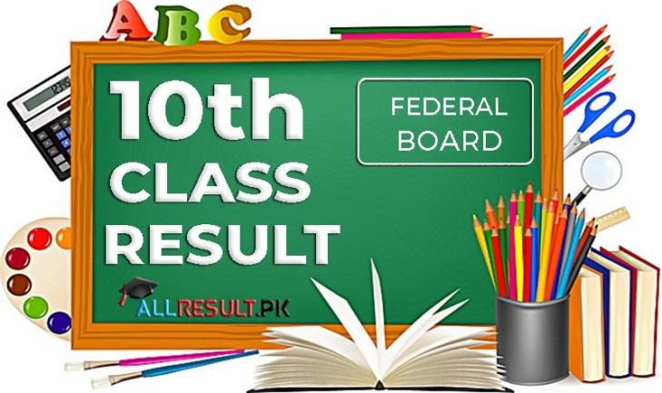 FBISE Federal Board 10th Class Result 2020
