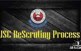 JDC, JSC Recheck Result 2016 and ReScrutiny Process