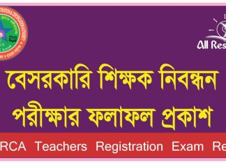 14th NTRCA Exam Result