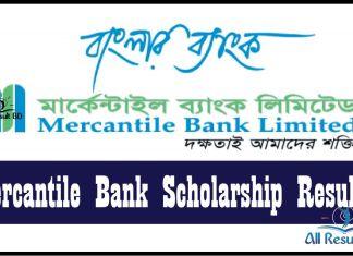 Mercantile Bank Scholarship Result