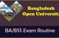 BD Open University BA/BSS Exam Routine 2017 bou.edu.bd