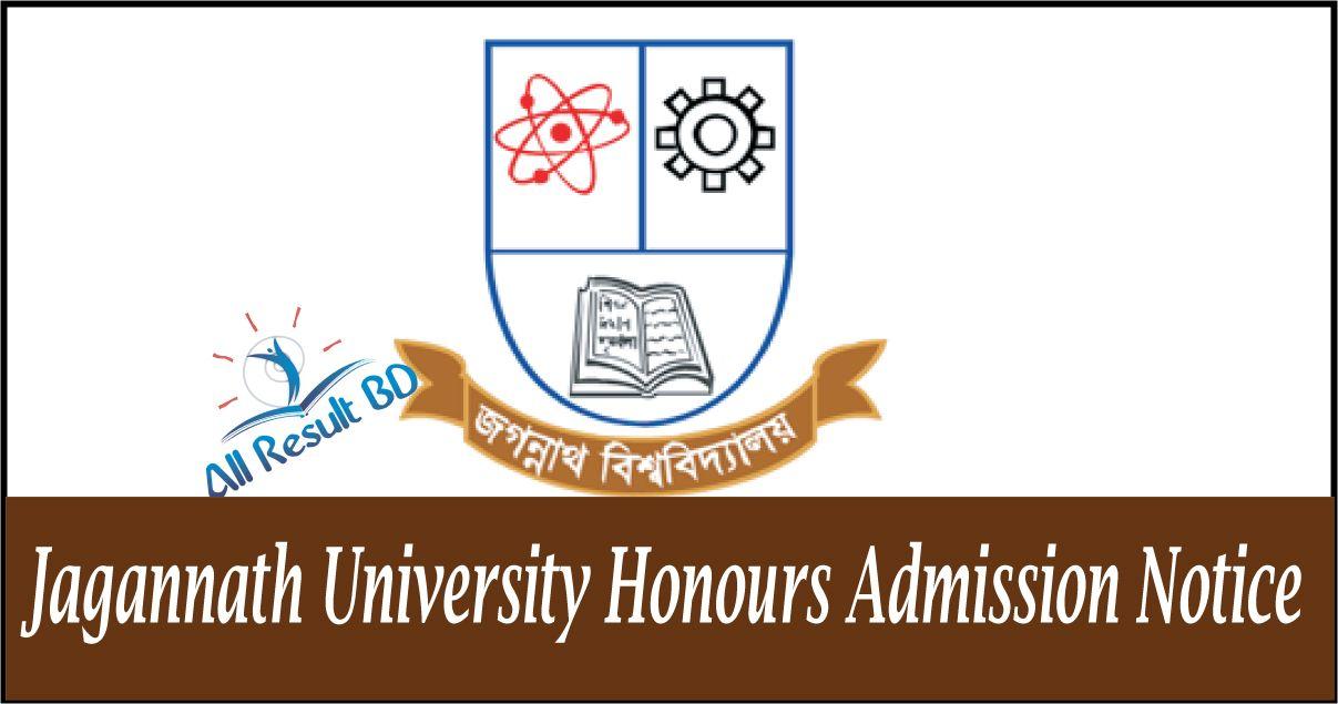 Jagannath University Honours Admission Notice 2017-18