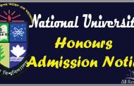 National University Honours Admission Notice 2016-17