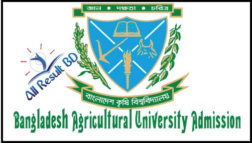 Bangladesh Agricultural University Admission Circular 2017-2018
