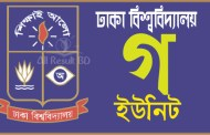 Dhaka University GA Unit Admission Result 2017 admission.eis.du.ac.bd