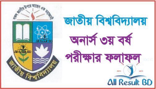 National University Honours 3rd Year Result 2017 NU.EDU.BD