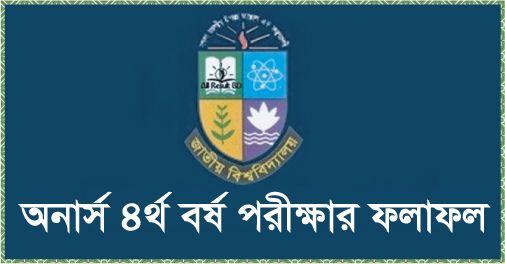 National University Honours 4th year result 2014 Nu.edu.bd