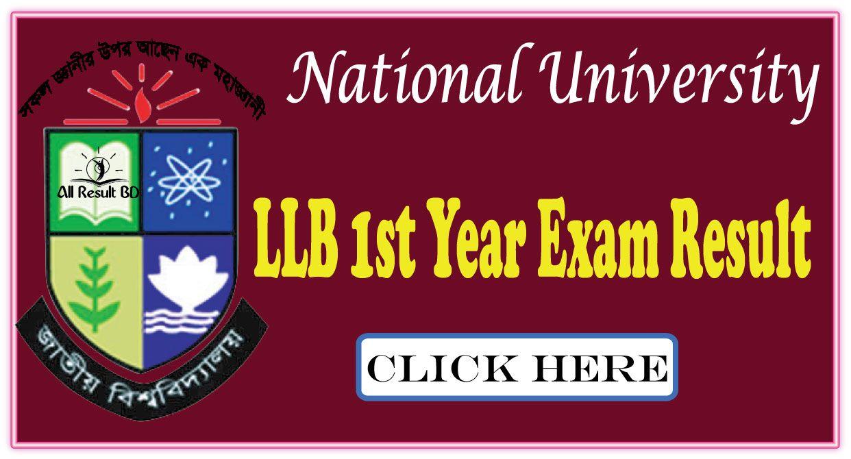 National University LLB 1st Year Exam Result 2017