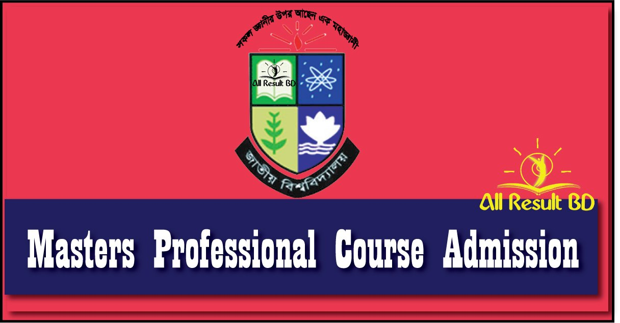National university Masters Professional Course Admission Result Notice 2017