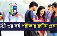 National University Degree 3rd Year Routine 2017 Old Syllabus