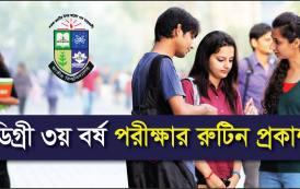 National University Degree 3rd Year Routine 2017 Old Syllabus