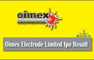 Oimex Electrode Limited Ipo Result 2017 Published