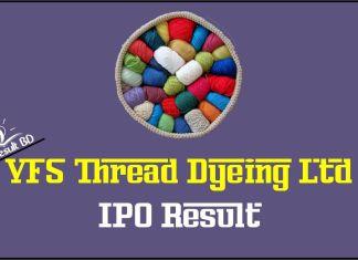 VFS Thread Dyeing Ltd IPO Result