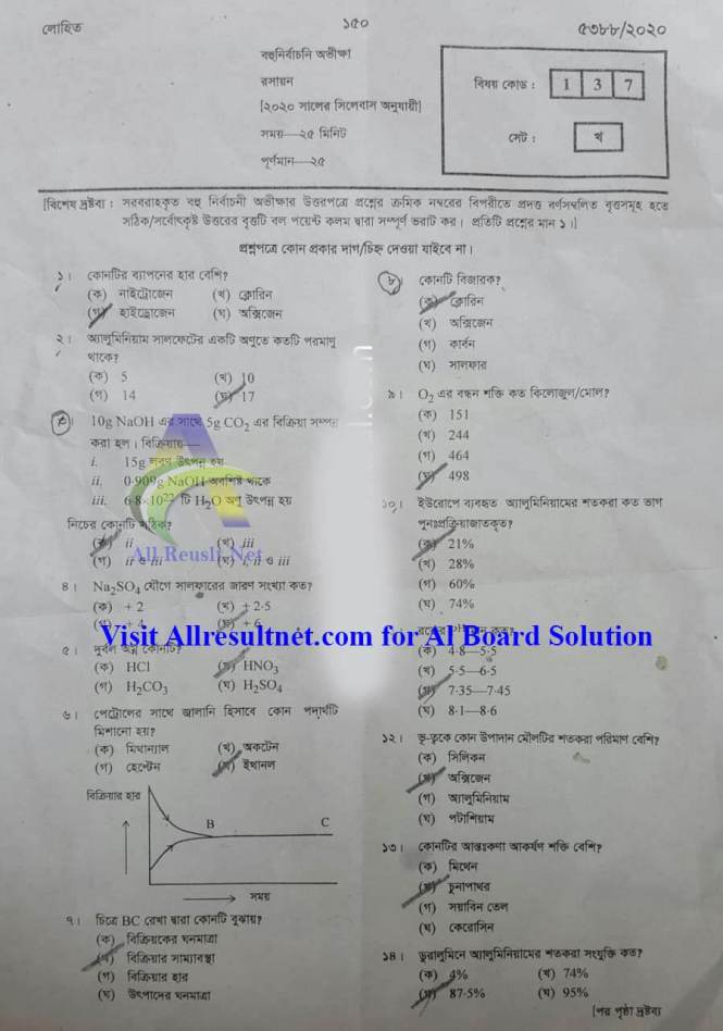 SSC Chemistry MCQ Solution