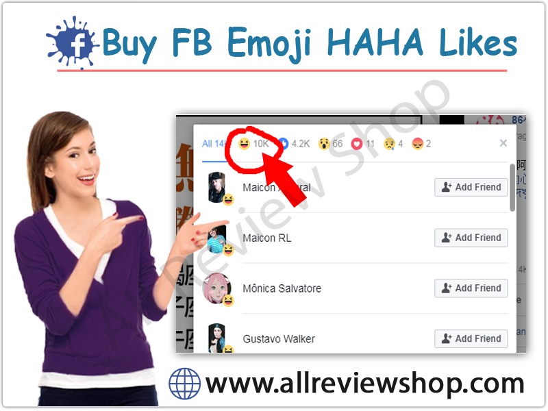 Buy Facebook haha emoij Likes