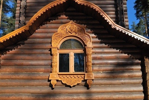 Wooden architecture, detail