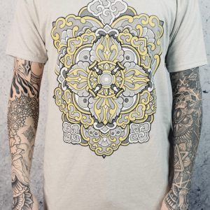 All Sacred | Men's Ornamental T-Shirt (Gray)