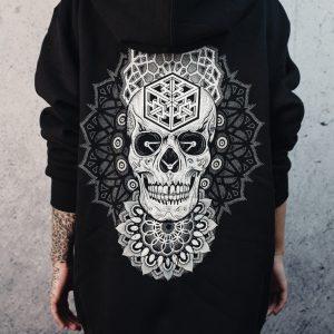 All Sacred   Skull Hoodie 1