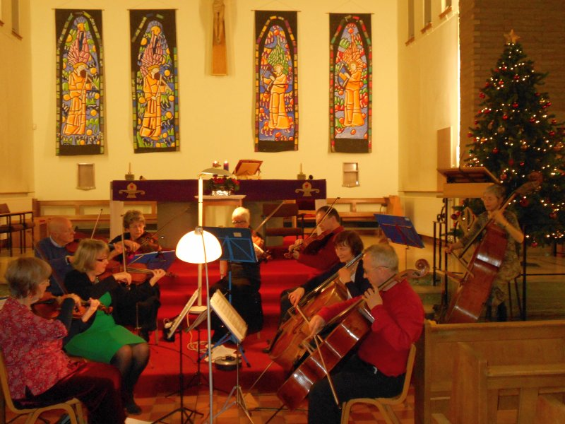 Christian Aid carol service at Our Lady of Perpetual Succour, Broomhill, Glasgow