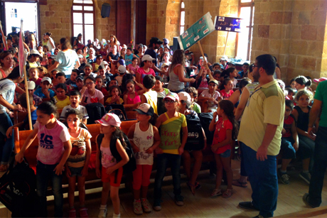 Young children at a summer school in the Syrian town of Lattakia, which the Ambassadors for Peace help to run.