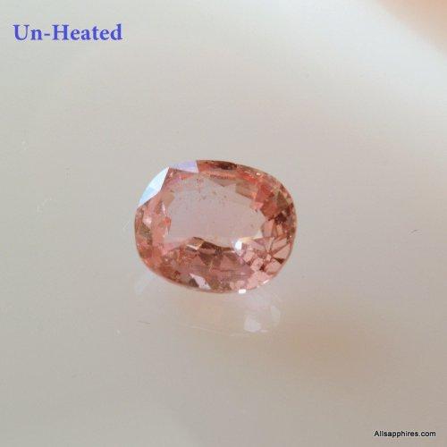 untreated peach sapphire