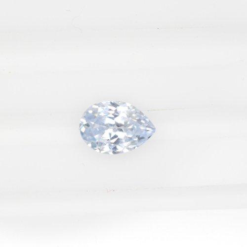 Pear bluish white sapphire