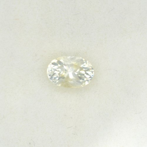 Oval white sapphire