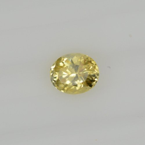 Oval yellow sapphire