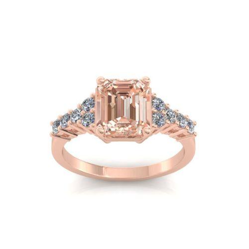 Gold diamonds setting