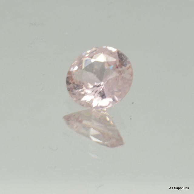 loose round peach sapphire