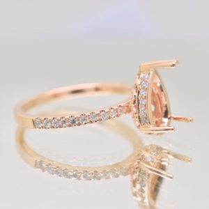 rose gold ring setting